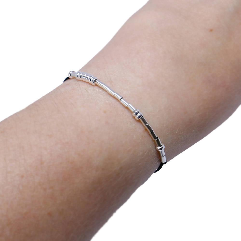 3626d40e870d9 Godmother Morse code bracelet