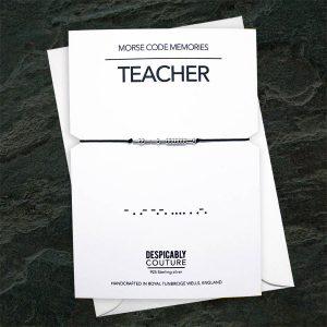 Morse Code Bracelet, Teacher Gift, Teaching Assistant Gift, Personalised Teacher Gift, Sterling Silver Bracelet, Teacher Appreciation