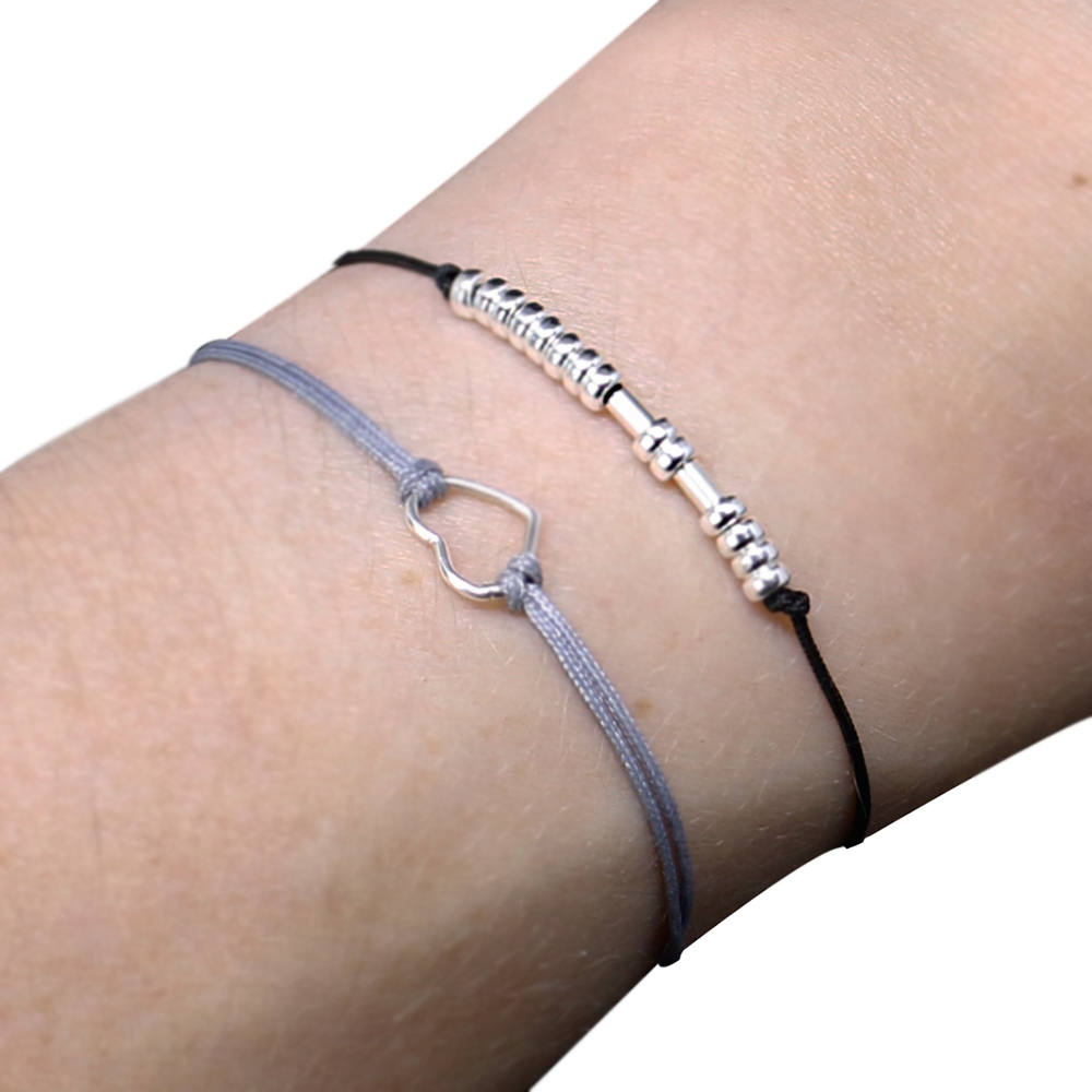Sister Bracelet Sisters Morse Code Gift Set Of 2 Bracelets