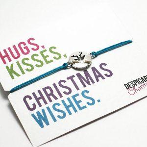 Christmas bracelet. Christmas wish bracelet. Perfect stocking filler or Secret Santa. Personalised Xmas gift. Friendship bracelet