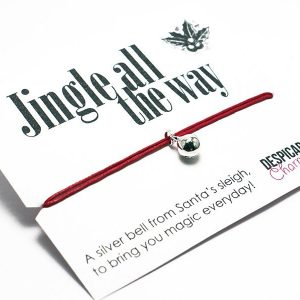 Jingle all the way, Christmas wish bracelet. Perfect stocking filler or Secret Santa. Alternative Christmas card. Friendship bracelet