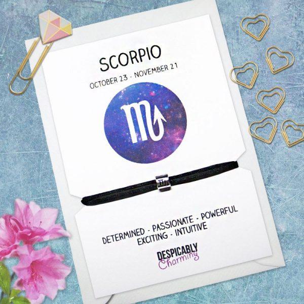 Scorpio Zodiac Bracelet, Personalised Jewellery, Horoscope Jewelry, personalized bracelet for men, sisterhood gift, christmas eve box