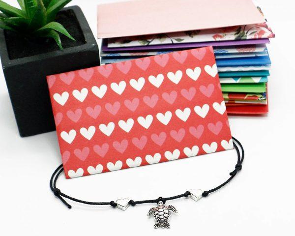 Sea Turtle Silver Anklet, Anklet for women, Hemp Anklet, personalized ankle bracelet, turtle jewelry, sea turtle gifts, turtle bracelet