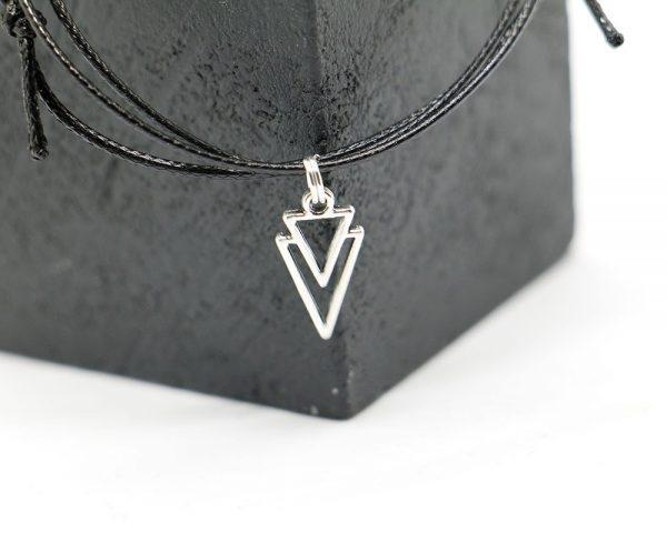 Triangle necklace, Choker collar, Layered choker, Geometric Necklace, Choker necklace, Layered Necklaces, Minimalist Necklace, Simple