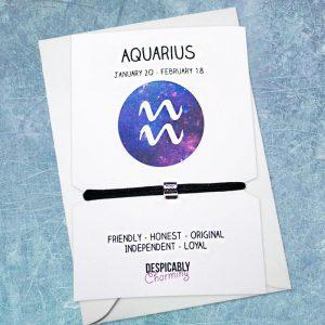 Zodiac bracelet - Aquarius, Horoscope, zodiac jewellery, personalised bracelet, Friendship bracelet, Birthday gift, Bridesmaid gift, BFF