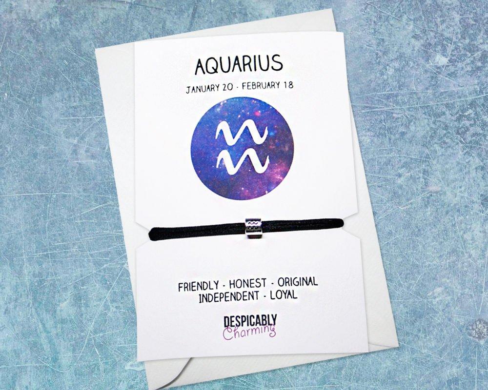 Zodiac bracelet - Aquarius, Horoscope, zodiac jewellery, personalised bracelet, Friendship bracelet,