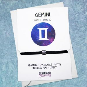 Zodiac bracelet - Gemini, Horoscope, zodiac jewellery, personalised bracelet, Friendship bracelet, Birthday gift, Bridesmaid gift, BFF