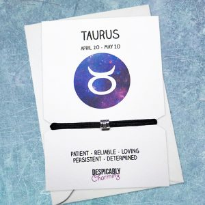 Zodiac bracelet - Taurus, Horoscope, zodiac jewellery, personalised bracelet, Friendship bracelet, Birthday gift, Bridesmaid gift, BFF