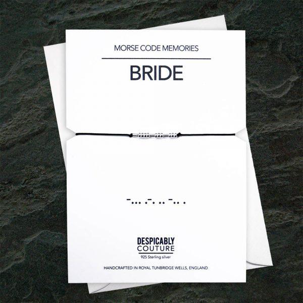 BRIDE Morse code bracelet