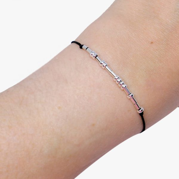 Graduation Gift - Morse code graduation bracelet - STERLING SILVER - Despicably Couture Collection