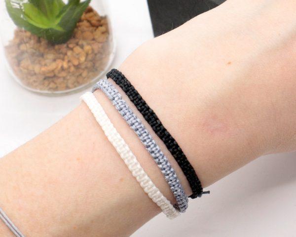 Monochrome friendship bracelet set