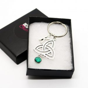 Personalised Trinity Knot Keychain