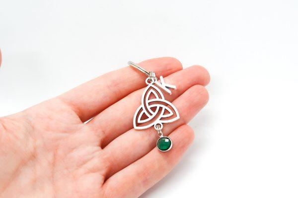 Personalised Trinity Knot Keychain