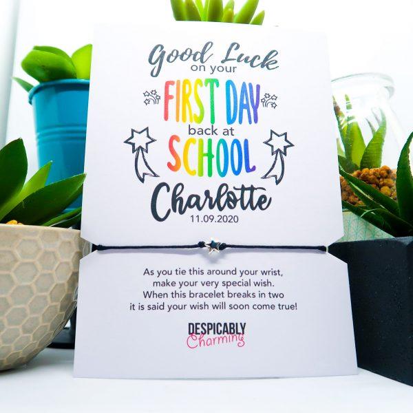 Back to School Good Luck Gift Wish Bracelet