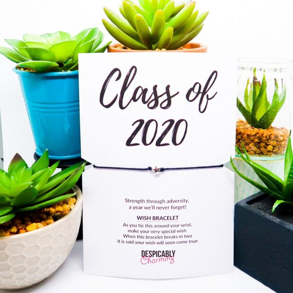 Exam results congratulations class of 2020 Card with Wish String Bracelet Keepsake