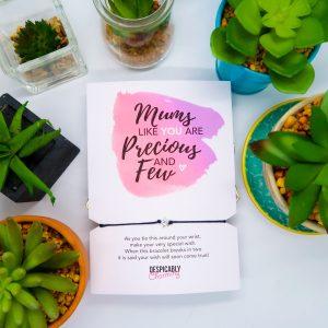 Mum Birthday Card Wish Bracelet