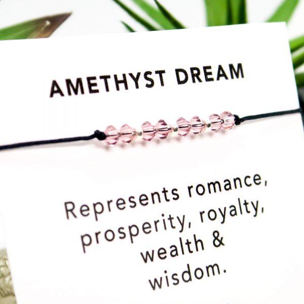 Amethyst Crystal & Sterling Silver Bracelet