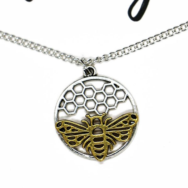 Silver and Gold Bee Necklace