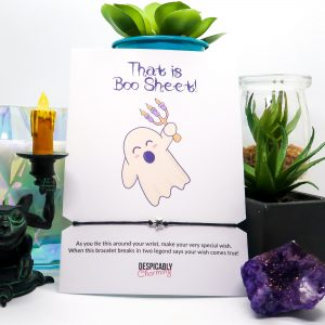 That is boo sheet! Funny Halloween Card Wish Bracelet