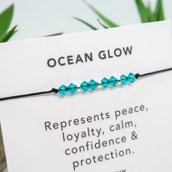 Turquoise Crystal & Sterling Silver Bracelet